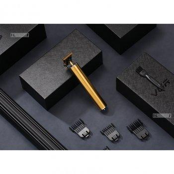Машинка для стрижки волос профессиональная триммер для бороды окантовочная машинка VGR 5W 700mAh Gold (V-065)
