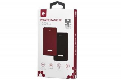 Портативний зарядний пристрій powerbank 2E PB1007AS Red 10000мА/год
