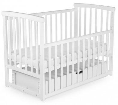 Детская кроватка трансформер с ящиком Bimbi Белый (Ds-b2)