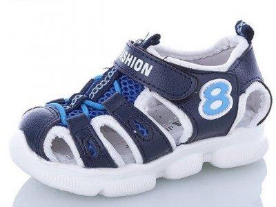 Спортивные детские босоножки для мальчика Sport Fashion JONG-GOLF сине-белые