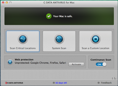 G Data AntiVirus for Mac 1 рік 4 ПК Продовження
