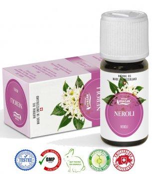 Натуральное швейцарское эфирное масло Нероли VIVASAN Original 10мл концентрат 100% GMP Sertified Paraben free