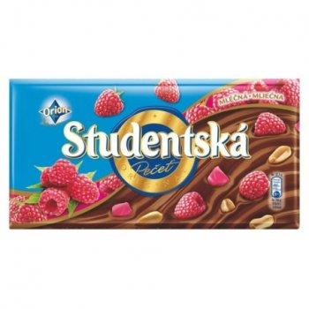 Шоколад Studentska молочный с малиной 180 г