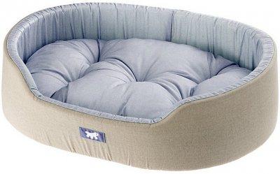 Лежак для собак і кішок Ferplast Dandy C 65 65х46х17 см Блакитний з чорним (82943095 — Блакитний)