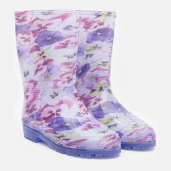 Резиновые сапоги Demar Rainny Print 0054D Фиолетовые