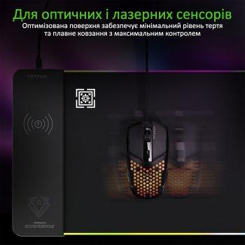 Ігрова поверхня Vertux RaftPad-Qi з бездротовою зарядкою 15 Вт Black (raftpad-qi.black)