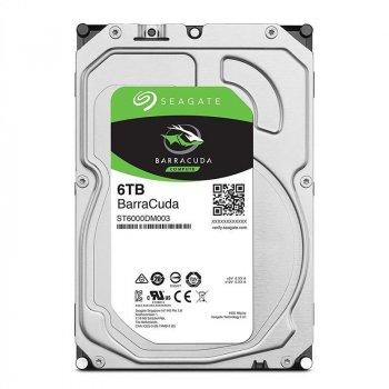 """Жорсткий диск 6TB Seagate BarraCuda 3.5"""" 5400 об/мин, 256 MB, SATA III (ST6000DM003-FR) - заводське відновлення"""