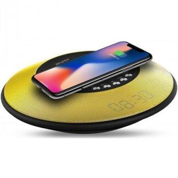 Портативна акустика AWEI Y290 Bluetooth Speaker-Wireless Charger Yellow (800_19)