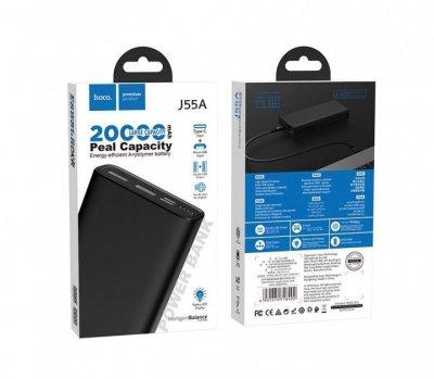 Павер банк портативное зарядное устройство Hoco J55A Neoteric 20000mAh Black