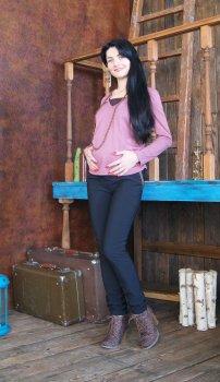Штани для вагітних NowaTy 15020204 Класика жанру теплі чорний