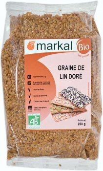 Насіння льону Markal органічне 250 г (3329488311253)