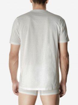 Футболка Pompea T-shirt U scol.V cotton Біла