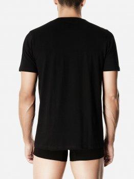 Футболка Pompea T-shirt U scol.V cotton Чорна