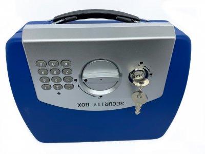 Сейф портативный электронный кодовый 210х255х75 мм