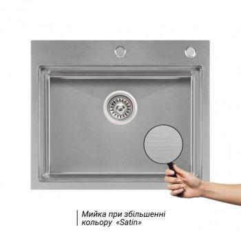 QT DH6050 SET 3.0/1.2 mm кухонная мойка (интегрированная) Satin с дозатором и сушкой