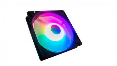 Вентилятор Tecware ARC Spectrum F1 Starter Kit (TW-ARC-F1-SK4), 120x120x25мм, 3-pin, черный с белым