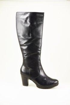 Сапоги Tamaris кожаные черный