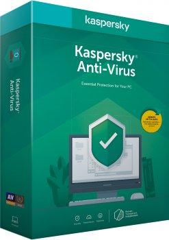 Kaspersky Anti-Virus 2020 перше встановлення на 1 рік для 1 ПК (DVD-Box, коробкова версія)