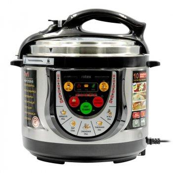 Мультиварка скороварка пароварка Rotex 5 литров 900 Вт. Лучшая йогуртница домашняя фритюрница мощная помощница на кухне рисоварка REPC53BB