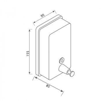 Диспенсер для жидкого мыла Lidz (CRM) 121.02.05