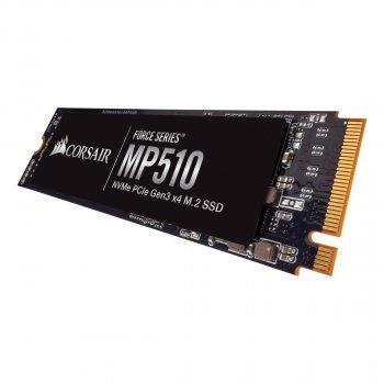 SSD 480GB M. 2 NVMe Corsair Force Series MP510 M. 2 2280 PCIe Gen3.0 x4 3D TLC (CSSD-F480GBMP510B)