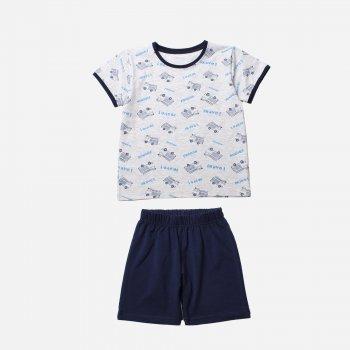 Пижама Фламинго 222-428 Меланж / Темно-синий