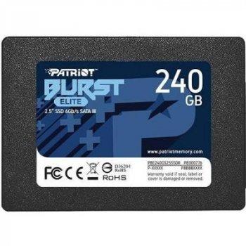 Накопитель SSD 2.5 дюйма 240GB Burst Elite Patriot (PBE240GS25SSDR)