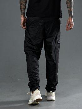 Спортивные брюки из плащевки с подкладкой сеткой, Tailer черные (1015)