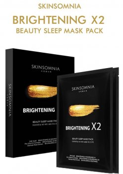 Маска для лица Сияние 2х эффект Бьюти-слип Skinsomnia Brightening x2 Beauty Sleep Mask Pack 30 мл (8809540516307)