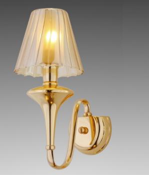 Бра золотого цвета с плафоном из матового стекла (OK029/1) (SL00517)