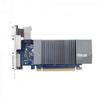 Видеокарта Asus, GeForce GT710, 1Gb GDDR5, 32-bit, VGA/DVI/HDMI, 954/5012MHz, Silent, Low Profile (GT710-SL-1GD5)