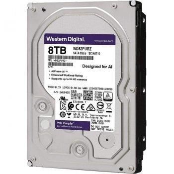 Жорсткий диск 3.5 Western Digital Purple 8TB 256MB 7200rpm SATAIII (WD82PURZ)