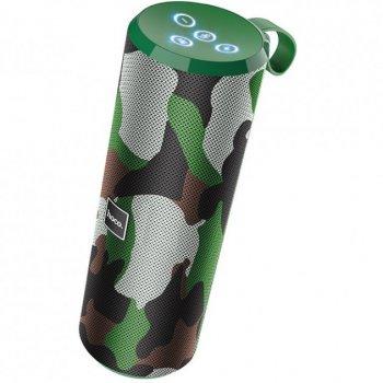 Акустическая портативная колонка Hoco BS33 влагозащищенная система с 360° звучанием Bluetooth Voice Sports Хаки