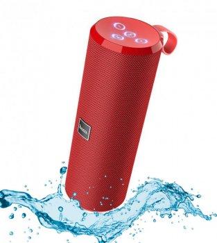 Акустическая портативная колонка Hoco BS33 влагозащищенная система с 360° звучанием Bluetooth Voice Sports Красная