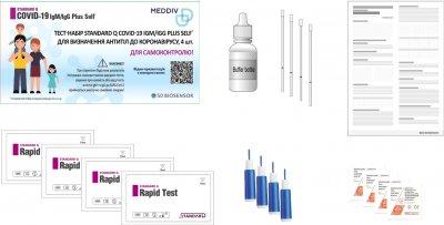 Тест-набор SD BIOSENSOR STANDARD Q COVID-19 IgM/IgG Plus Self для определения антител к коронавирусу 4 шт (09COV70DMUA4)