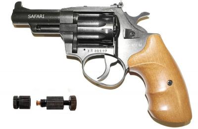 Револьвер под патрон Флобера Safari РФ-431 М бук + Обжимка патронов Флобера в подарок!