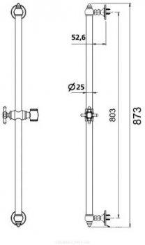 Душевая штанга MIXXEN Рома МХGN0512BR бронза