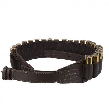 Кожаный Патронташ Bronzedog на 24 патрона 12/16 калибра Открытый Темно Коричневый (10305/2)