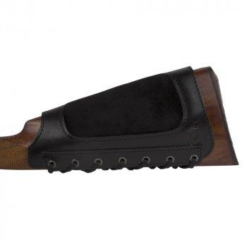 Шкіряний Патронташ на приклад Bronzedog 6 патронів калібр 12/16/20 Чорний (5090/1)