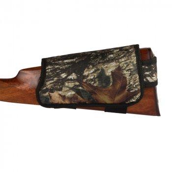 Патронташ на Приклад з Поліестеру Bronzedog Правша 6 патронів калібр 12/16 Чорний (8101)
