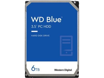 "Жесткий диск Western Digital Blue 6TB 5400rpm 256MB WD60EZAZ 3.5"" SATAIII HDD"