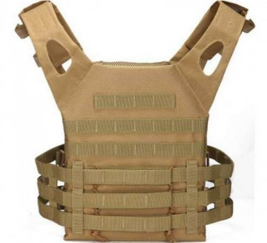 Тактический военный жилет плитоноска чехол для бронепластин Tactic под 3 рожка с системой Molle Койот (plate-coyote)
