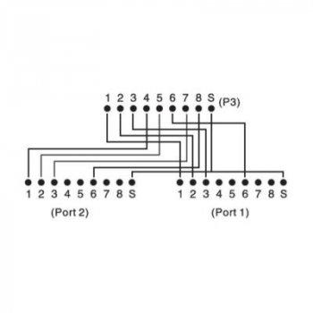 Разветвитель DIGITUS витой пары, STP, cat.5e, 1x2RJ-45 (DN-93904)