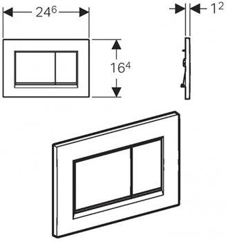 Панель смыва GEBERIT Sigma30 115.883.16.1 черный матовый