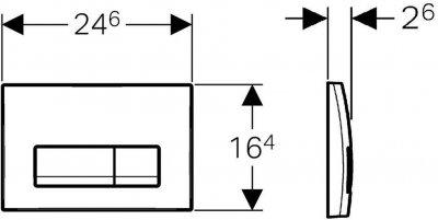Панель смыва GEBERIT Delta51 115.105.DW.1 черный