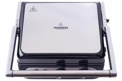 Гриль, сэндвичница, бутербродница с регулятором температуры Fousting CB 1042 (Crownberg) 2000W контактный электрический Черный