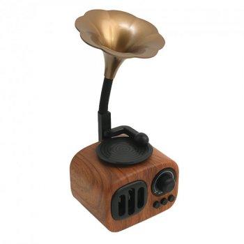 Портативная ретро-Bluetooth колонка Apollo Gramophone AS90 с USB, microSD