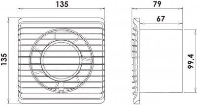 Вытяжной вентилятор AIRROXY Planet Energy 100 TS с таймером