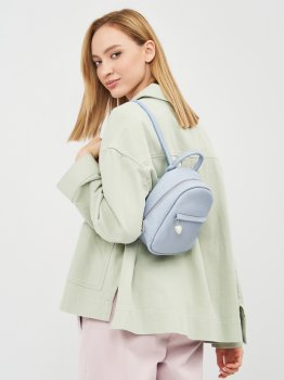 Жіноча сумка-рюкзак шкіряна Borsacomoda 835017 Блакитний