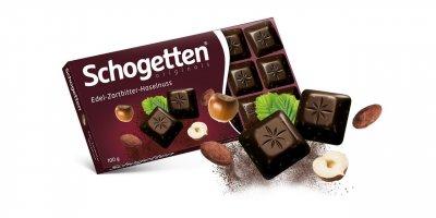 Шоколад черный Schogetten с лесным орехом 100г